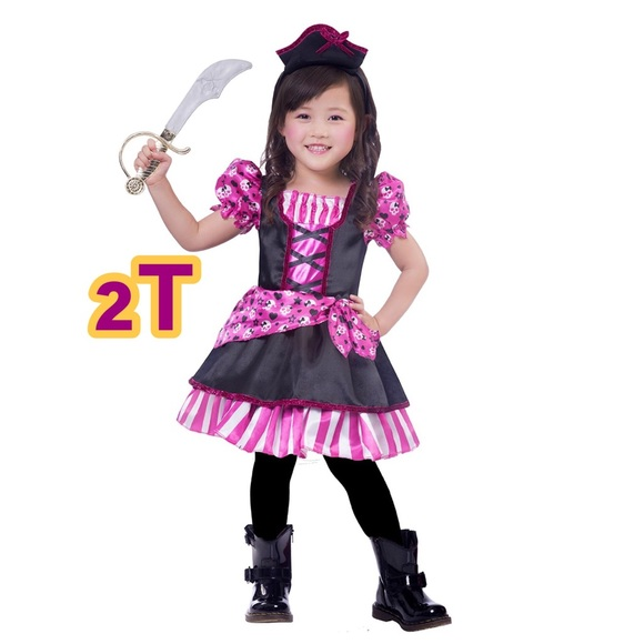pirate cutie toddler girls halloween costume 2t